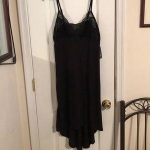 INC Black Night Gown Hi Low size Medium